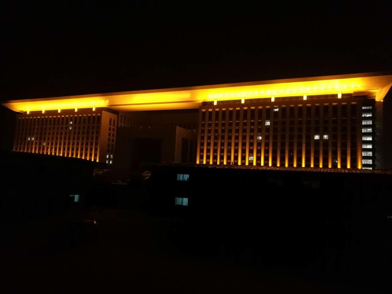 石家庄市新市委大楼夜景亮化工程