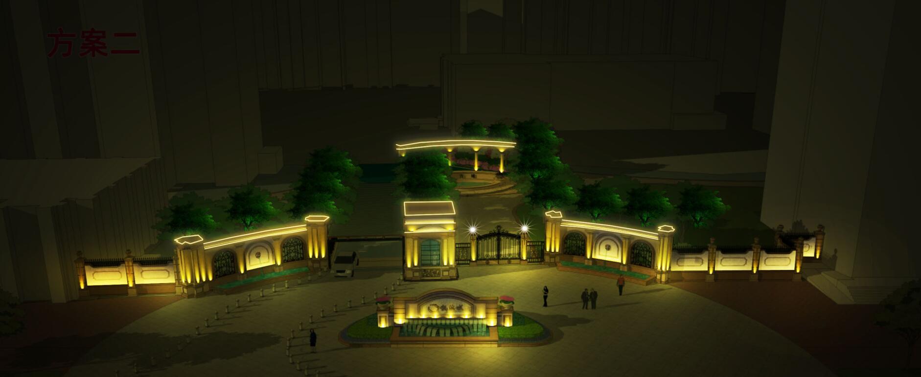 龙溪城亮化设计