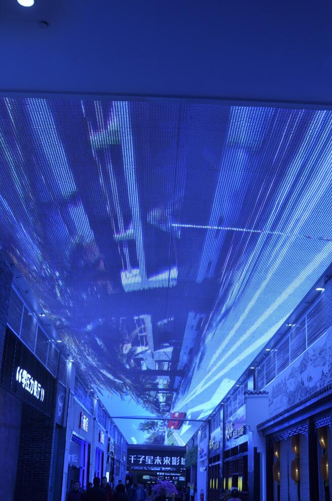 怀特商业广场室内天幕